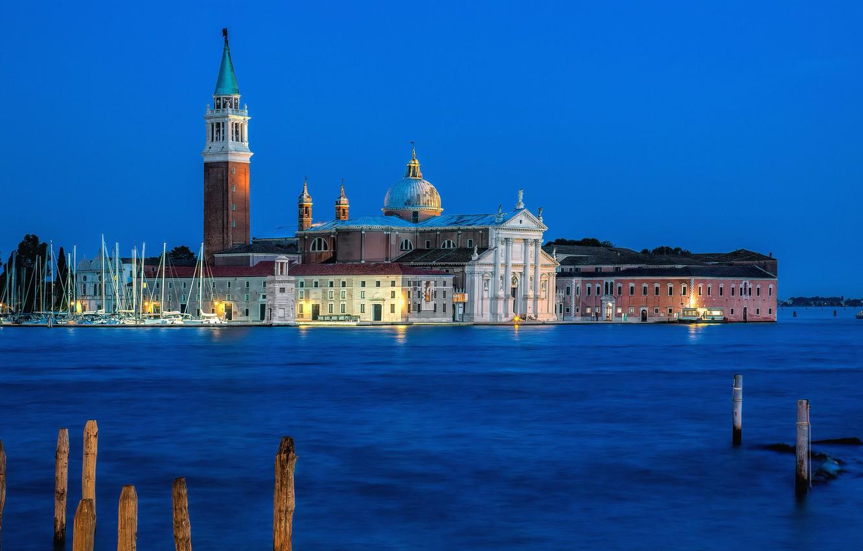 Photo wallpaper water, island, building, home, Italy, Venice, Italy, Venice, Venetian Lagoon, Venetian lagoon, San Giorgio Maggiore …