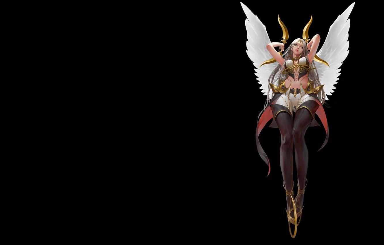 Photo wallpaper wings, anime, fantasy, art, assassin, Mam BA, It's not an angel