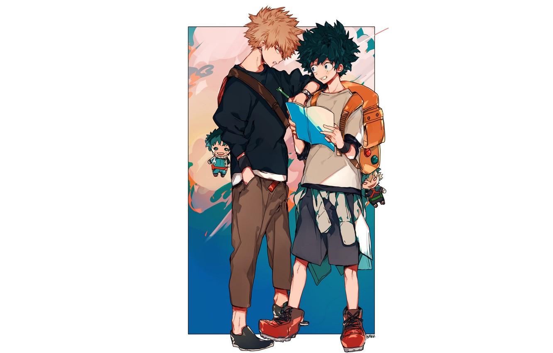 Photo wallpaper guys, students, keychains, My Hero Academia, Boku No Hero Academy, Midori Isuku, My Hero Academy, …