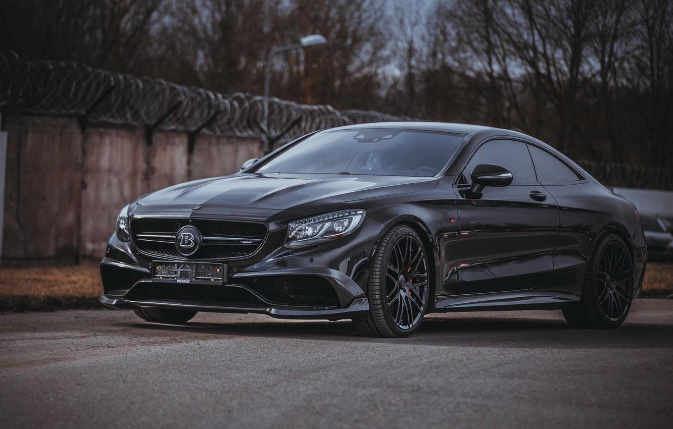 Photo wallpaper Mercedes, Brabus, Coupe, Mercedes-benz, S-classe