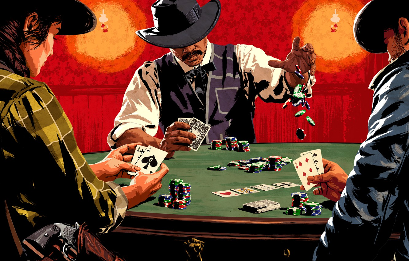 Wallpaper Red Dead Redemption 2 Table Wild West Card Red Dead