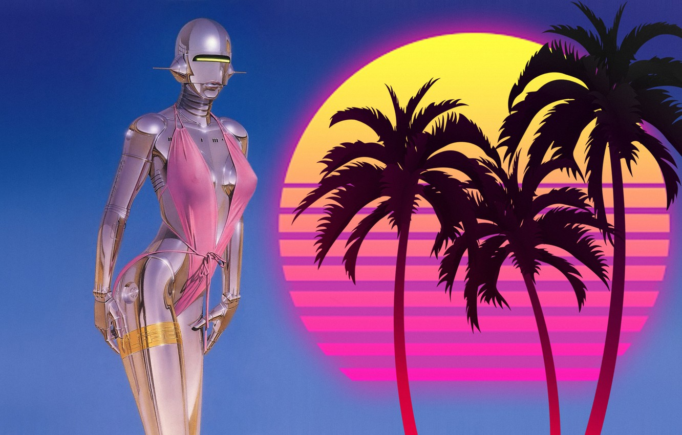 Wallpaper Music Girl 80s Robot 80 S Synth Retrowave Synthwave New Retro Wave Madeinkipish Futuresynth Sintav Retrouve Outrun Images For Desktop Section Art Download