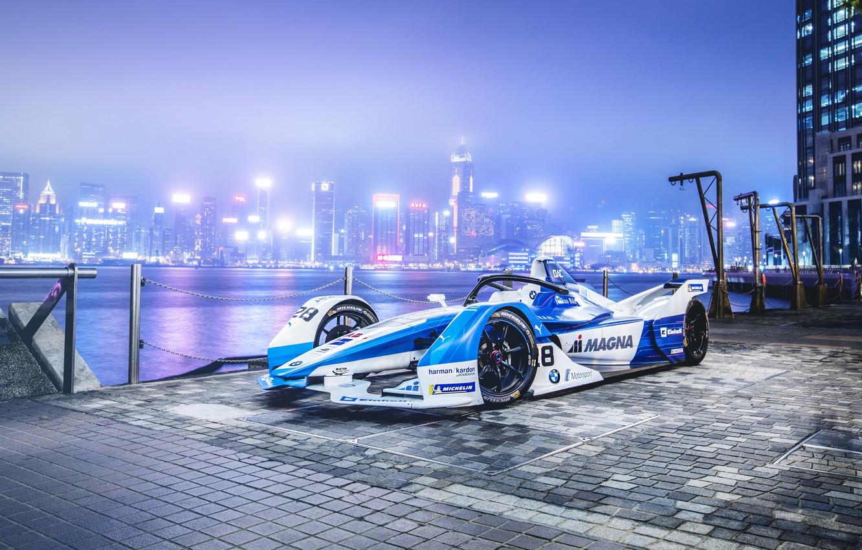 Photo wallpaper 2018, Formula E, Electric Race Car, BMW iFE.18
