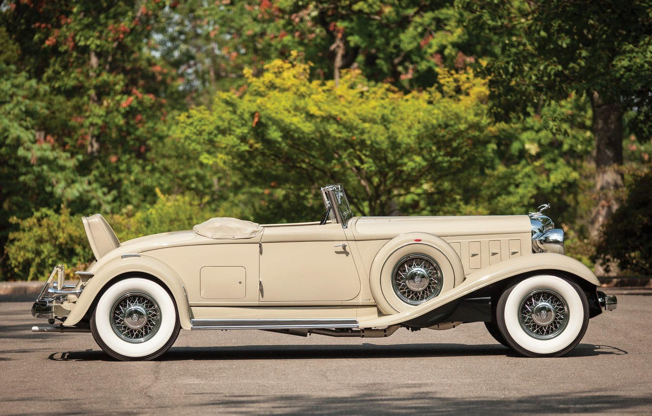 Photo wallpaper Roadster, side view, Convertible, Chrysler Custom Imperial