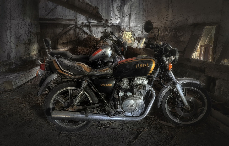 Photo wallpaper background, motorcycles, garage