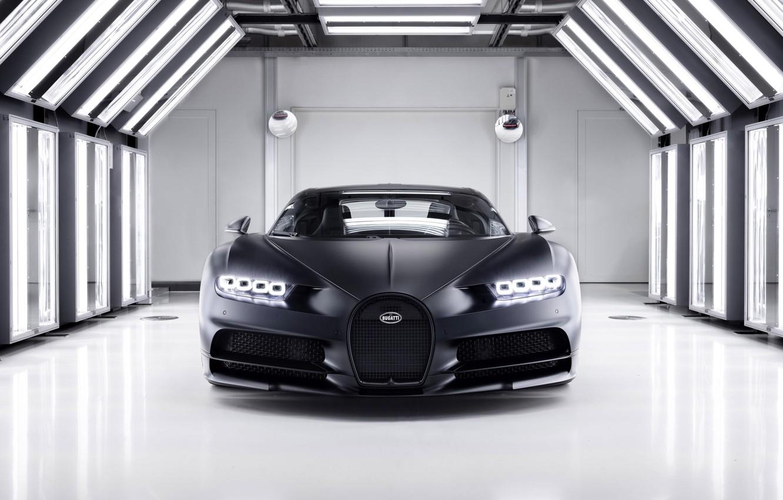 Photo wallpaper Bugatti, Chiron, 2020, Super car, Bugatti Chiron Noire