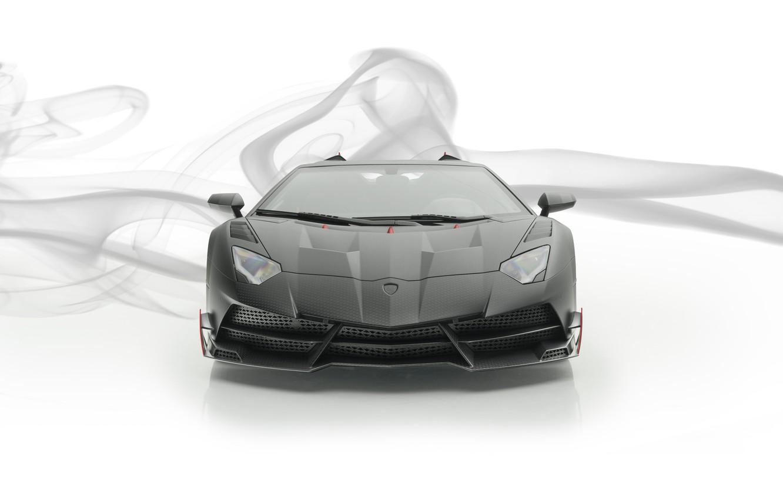 Photo wallpaper Roadster, Lamborghini, supercar, front view, Aventador, Mansory, 2019, Carbonado Evo