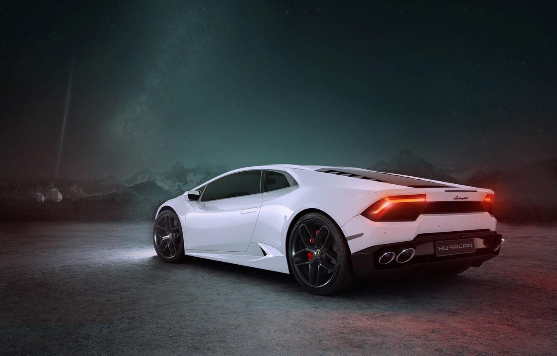 Photo wallpaper rendering, Lamborghini, supercar, CGI, Huracan