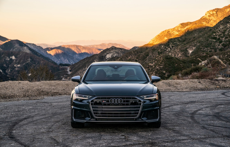 Photo wallpaper Audi, sedan, front view, Audi A6, 2020, Audi S6, US-version