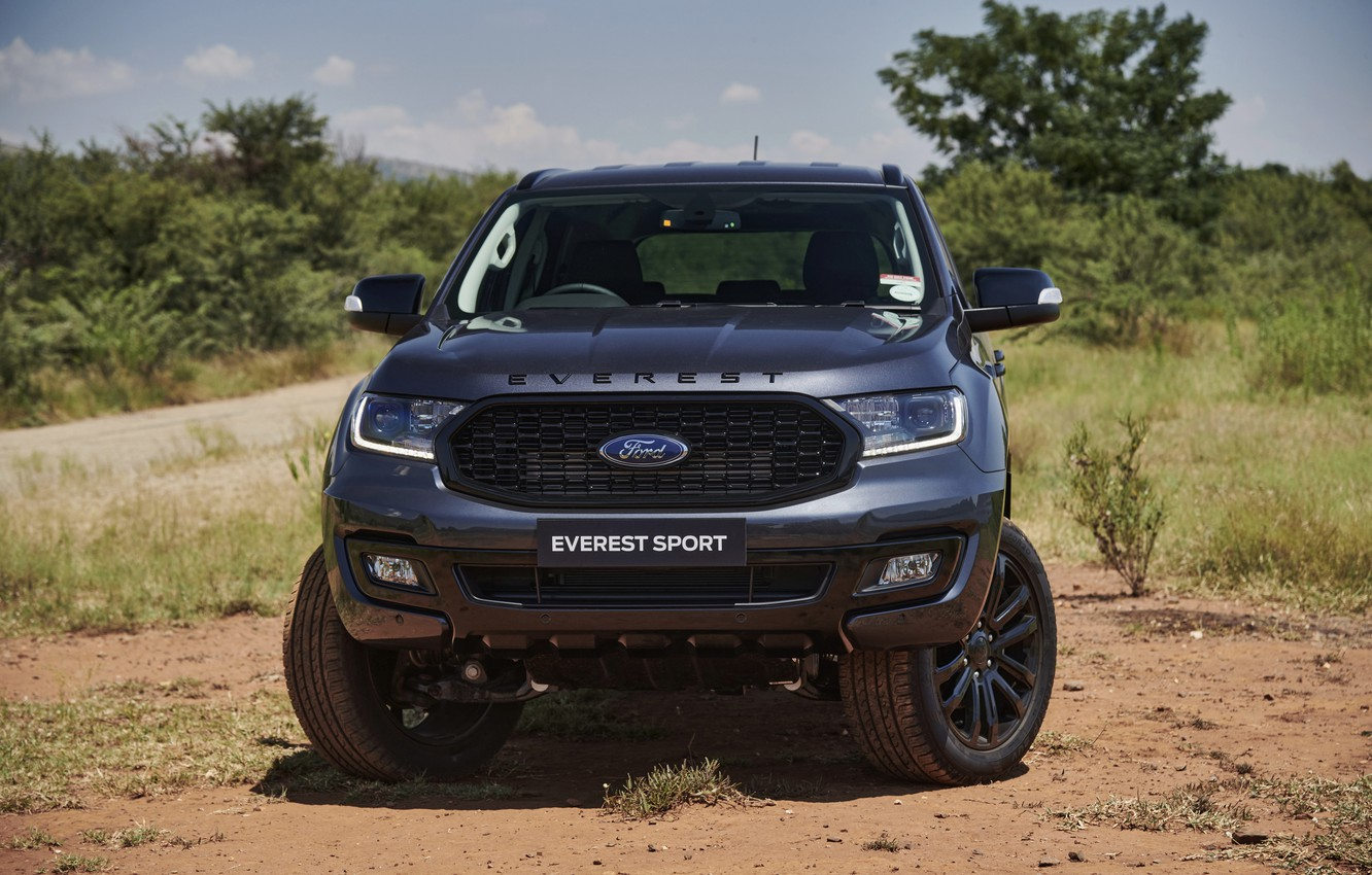Photo wallpaper Ford, front view, Sport, Everest, 4WD, 2021