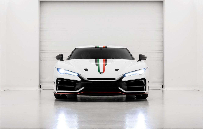 Photo wallpaper supercar, front view, 2018, ItalDesign, Zerouno