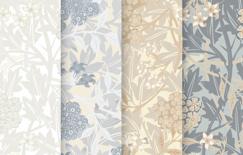 Wallpaper Flowers Background Texture Flower Design Vintage