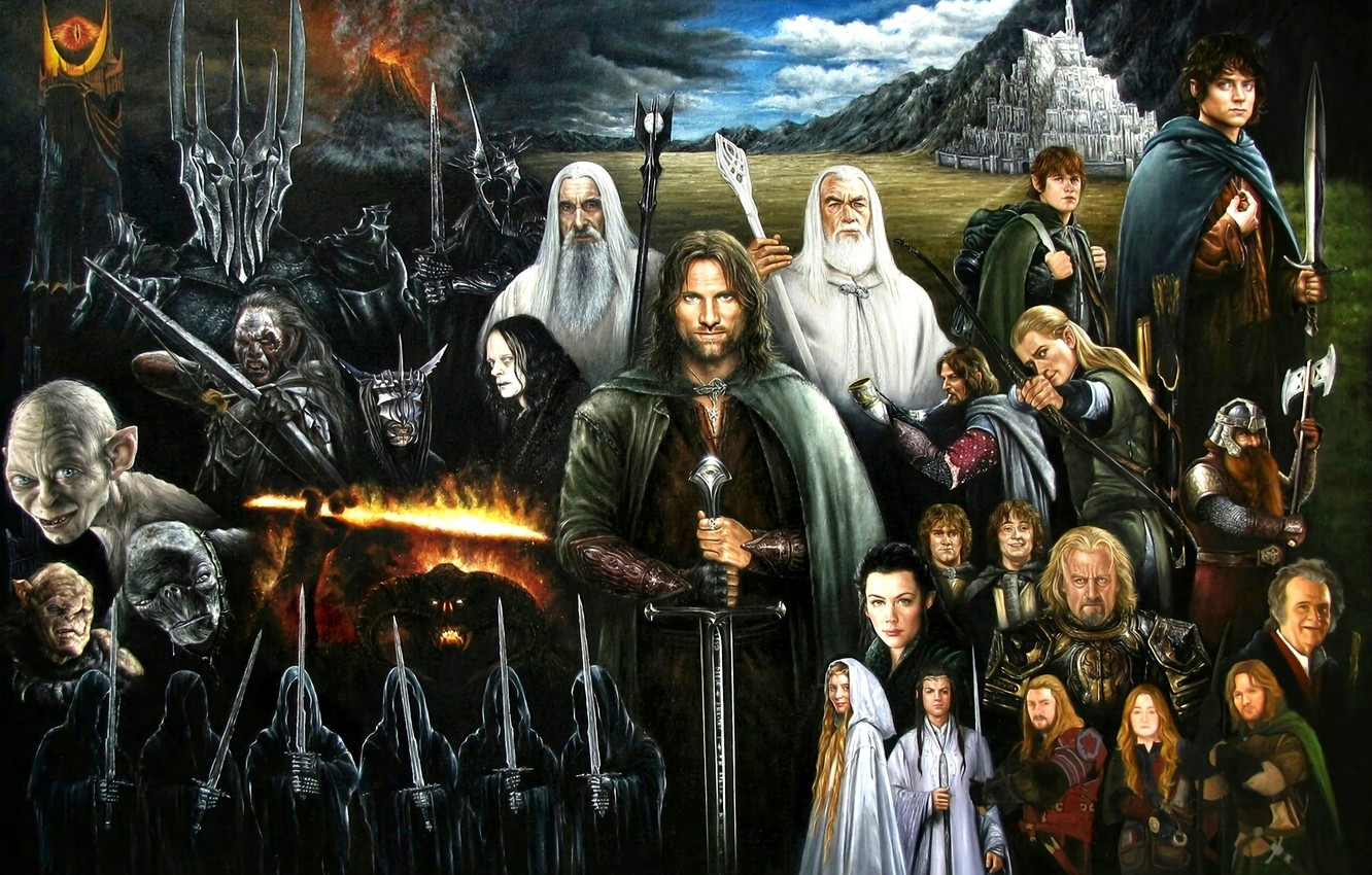 Wallpaper Gollum The Lord Of The Rings Aragorn Frodo