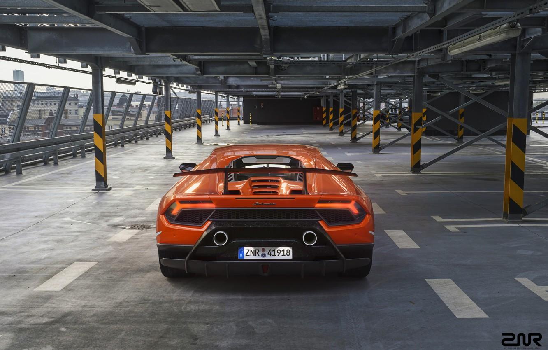 Photo wallpaper Auto, Lamborghini, Machine, Orange, Supercar, Rendering, Sports car, Vehicles, Huracan, Lamborghini Huracan, Transport, Transport & …