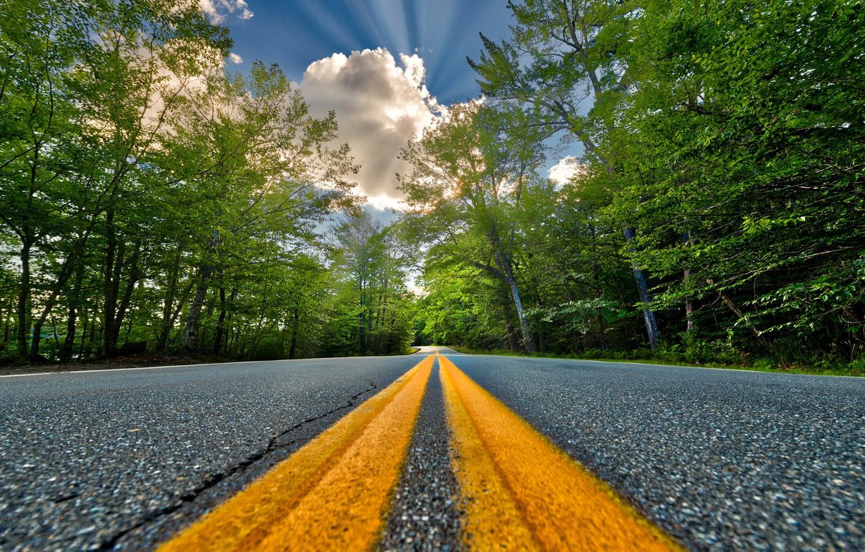 Photo wallpaper road, summer, asphalt