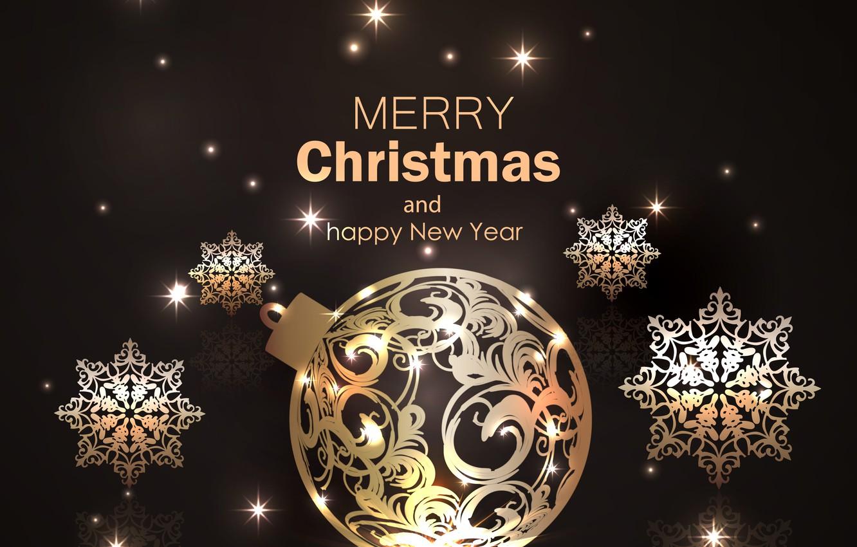 Photo wallpaper snowflakes, holiday, Shine, New year, postcard