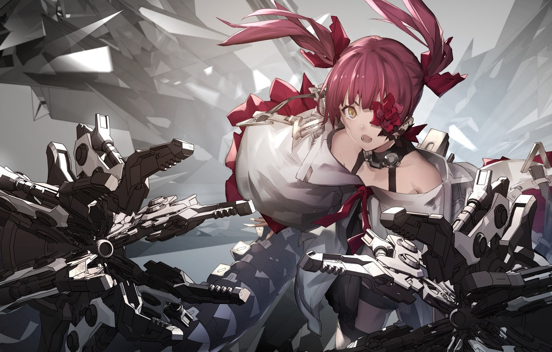Photo wallpaper girl, armor, cyborg