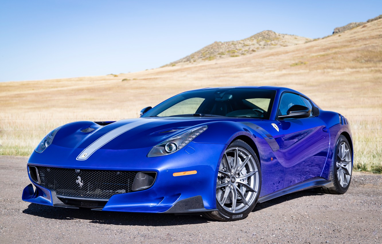 Photo wallpaper blue, sports car, Gran Turismo, Ferrari F12 TDF