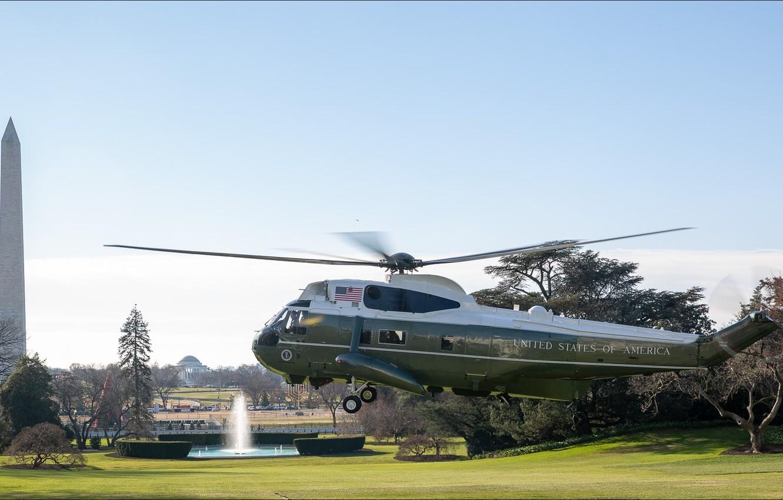 Photo wallpaper USA, Washington, helicopter