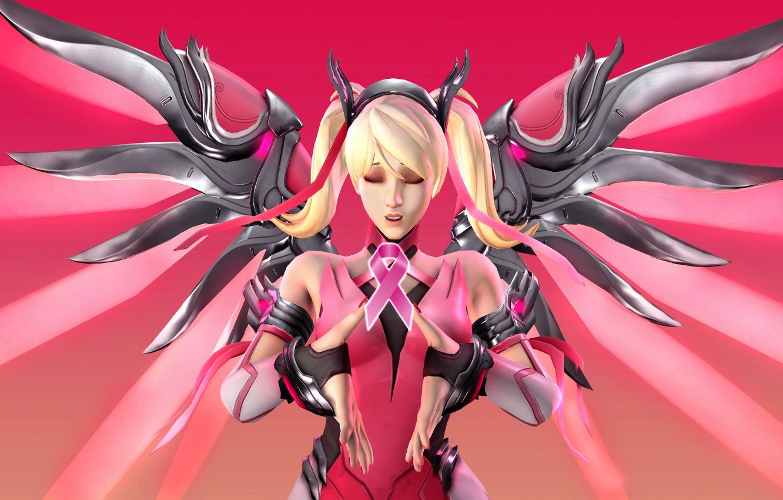 Wallpaper Girl Wings Blonde Overwatch Mercy Angela