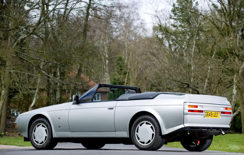 Photo wallpaper Prototype, Silver, Aston Martin V8 Vantage Volante Zagato