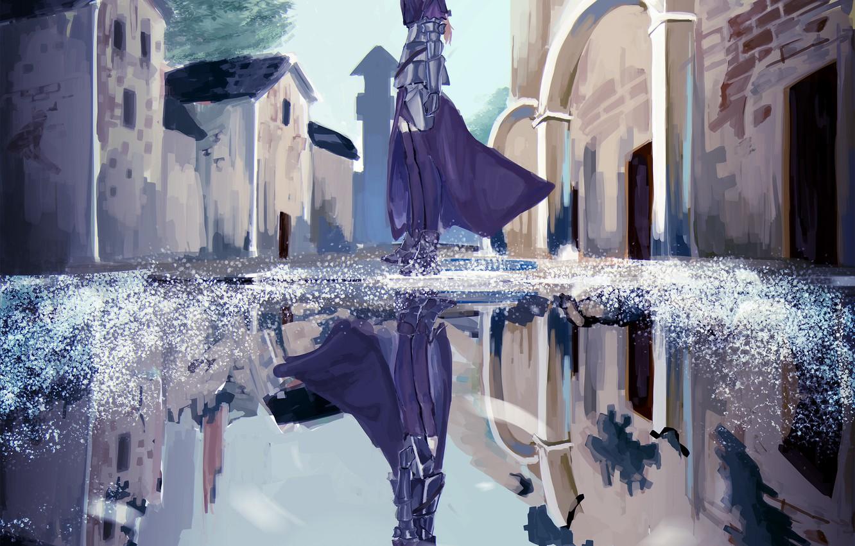 Photo wallpaper girl, reflection, art, Joan of arc, Fate / Grand Order