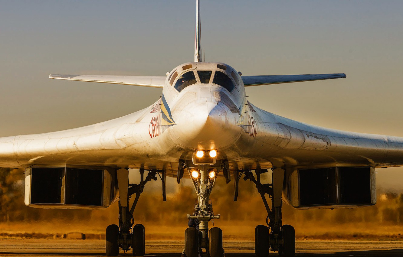 Photo wallpaper Swan, The plane, USSR, Russia, Aviation, BBC, Bomber, Tupolev, Tu 160, The plane, The Tu-160, ...