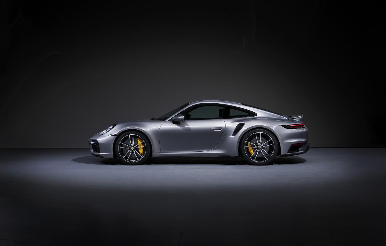 Photo wallpaper 911, Porsche, side view, Turbo S, 2020, 992
