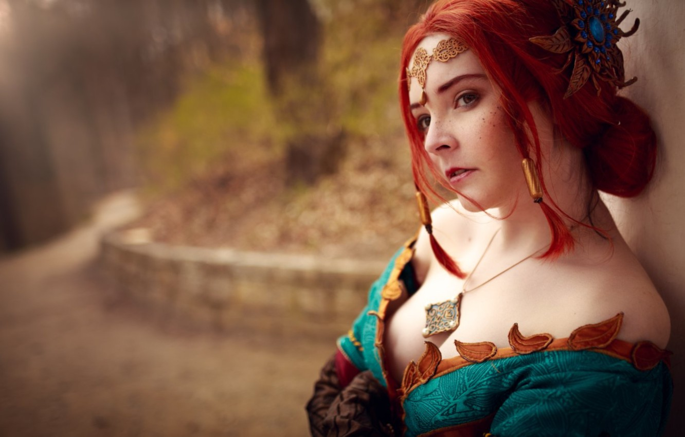 Wallpaper The Witcher Cosplay Triss Merigold Triss