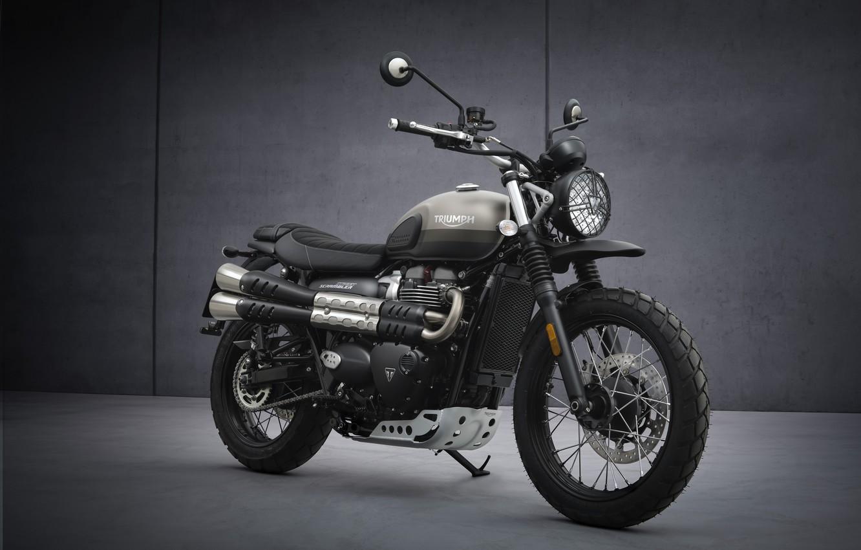 Photo wallpaper bike, Triumph, 900, Motorbike, 2021, street-scrambler