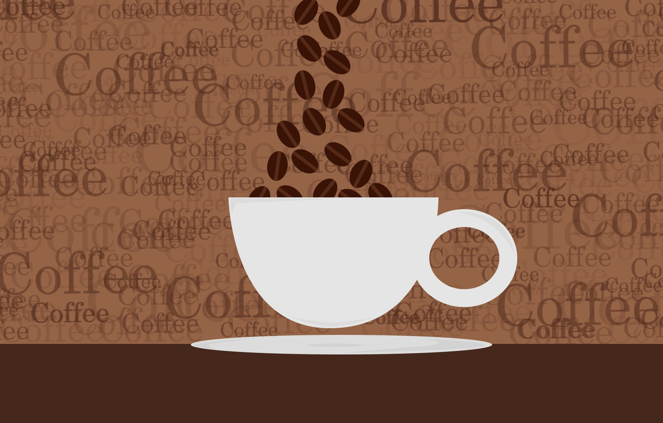 Photo wallpaper background, coffee, texture