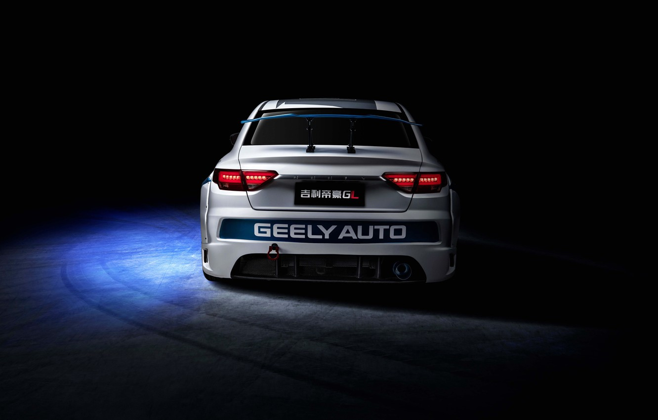 Photo wallpaper racing car, rear view, 2018, Race Car, Geely, Emgrand GL