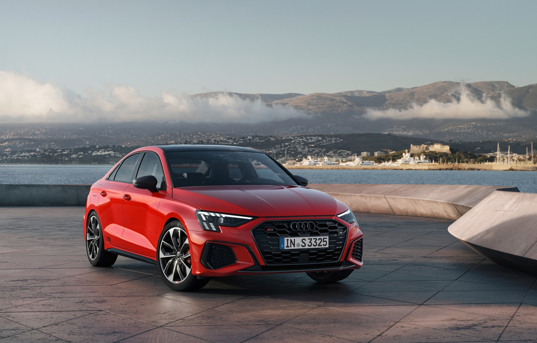 Photo wallpaper red, Sedan, 2020, S3