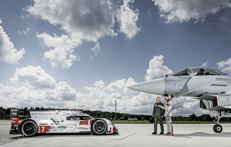 Photo wallpaper The sky, LMP1, Pilot, 24 Hours of Le Mans, 24 hours of Le Mans, Eurofighter …