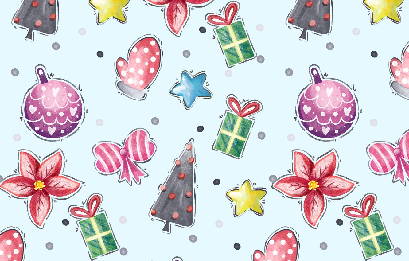 Photo wallpaper background, holiday, blue, toys, new year, vector, texture, Winter, pattern