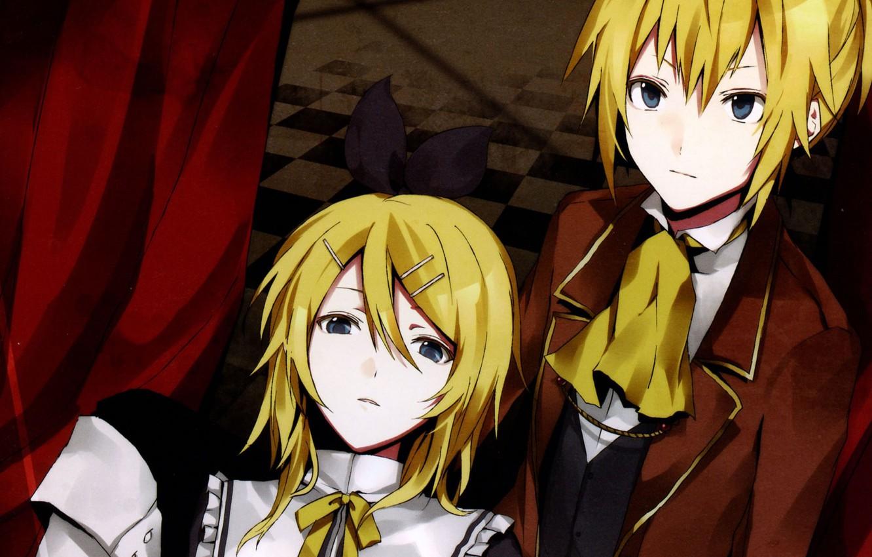 Photo wallpaper two, Vocaloid, Rin, Len