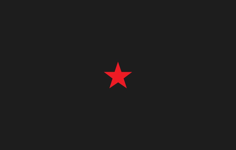 Photo wallpaper star, star, red