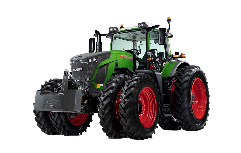 Photo wallpaper tractor, white background, wheel, Fendt, 942, Vario