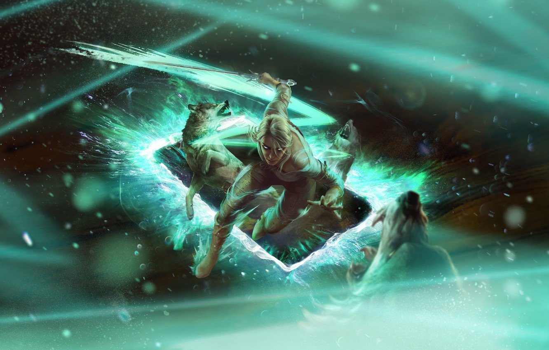 Photo wallpaper CRIS, Cirilla Fiona Ellen Riannon, Quint, Gwent: the witcher card game