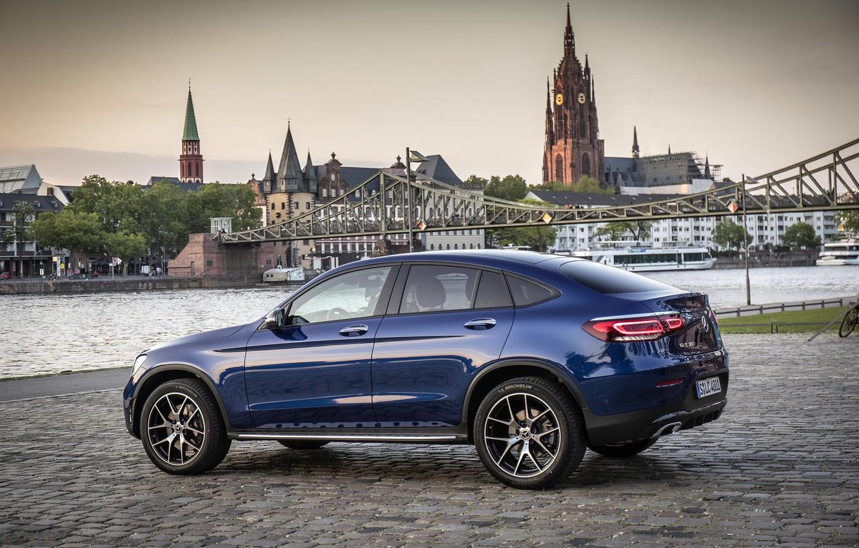 Photo wallpaper Mercedes - Benz, crossover, SUV, 2019, Mercedes - Benz, Mercedes-Benz GLC 300 4MATIC Coupe, brilliant …