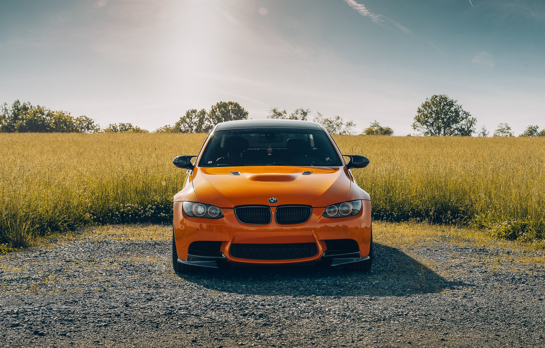 Photo wallpaper nature, design, color, BMW, car, the front, E92 M3
