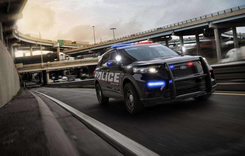 Photo wallpaper Ford, Police, Interceptor, Utility, 2020