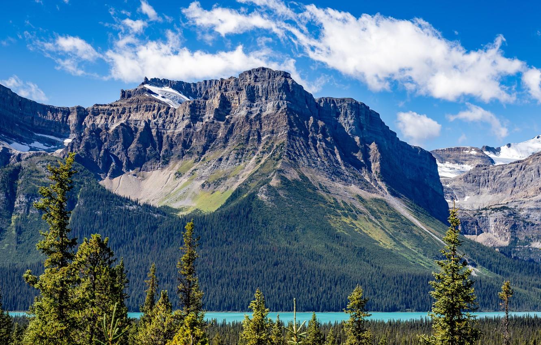 Photo wallpaper rock, lake, photo, Canada, Lake, Banff, Parks