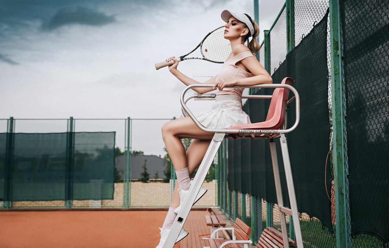 Photo wallpaper pretty, tennis, pose, Anton Kharisov