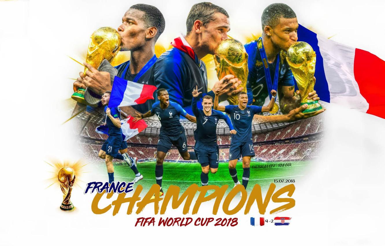 Photo wallpaper football, France, 2018, World Champions