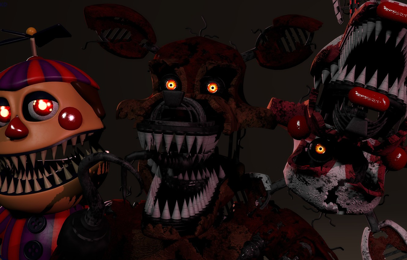 Wallpaper The Game Doll Monsters Five Nights At Freddy S