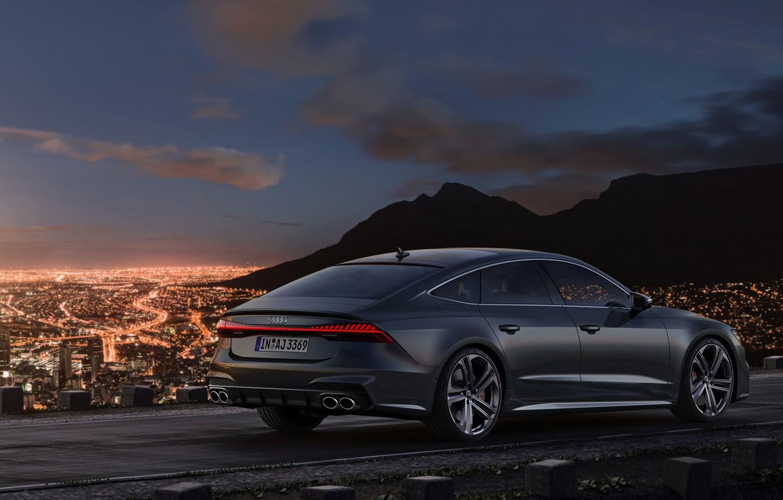 Photo wallpaper Audi, the evening, Audi A7, 2019, S7 Sportback