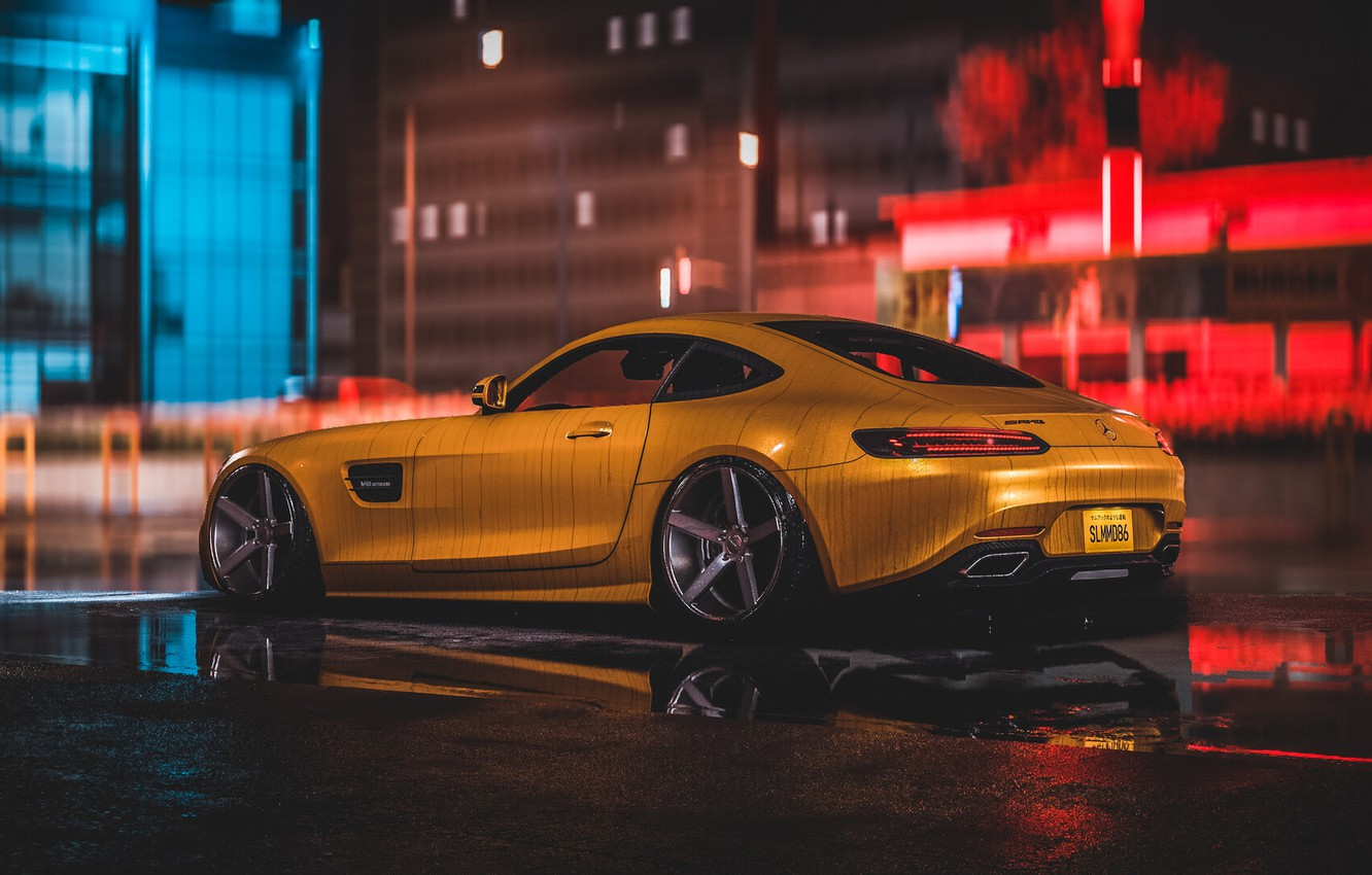 Wallpaper Auto Yellow Machine Style Mercedes Car Nfs