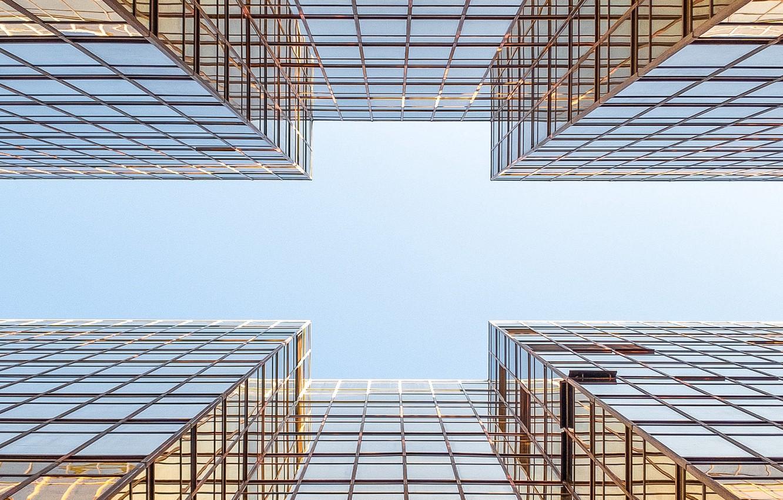Photo wallpaper the sky, building, architecture, symmetry
