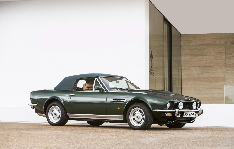 Photo wallpaper Green, Cabriolet, British Car, Aston Martin V8 Vantage Volante